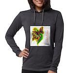 butterfly-7 Womens Hooded Shirt