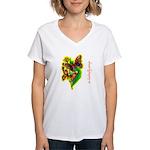 butterfly-7 Women's V-Neck T-Shirt