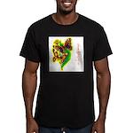 butterfly-7 Men's Fitted T-Shirt (dark)