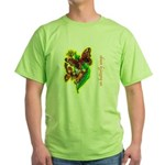 butterfly-7 Green T-Shirt