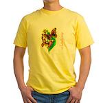 butterfly-7 Yellow T-Shirt