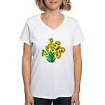 butterfly-3 Women's V-Neck T-Shirt
