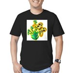 butterfly-3 Men's Fitted T-Shirt (dark)