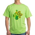 butterfly-3 Green T-Shirt