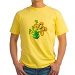 butterfly-3 Yellow T-Shirt