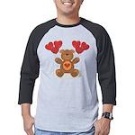 FIN-teddy-bear-hearts Mens Baseball Tee