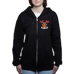 FIN-teddy-bear-hearts Women's Zip Hoodie