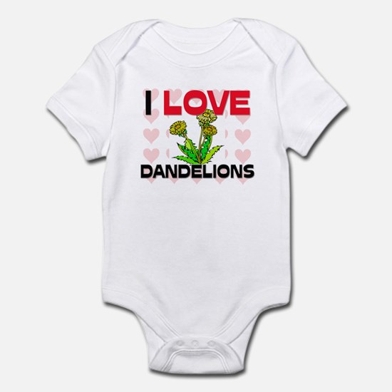 I Love Dandelions Infant Bodysuit