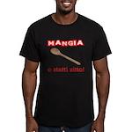 Mangia e Statti Zitto Men's Fitted T-Shirt (dark)
