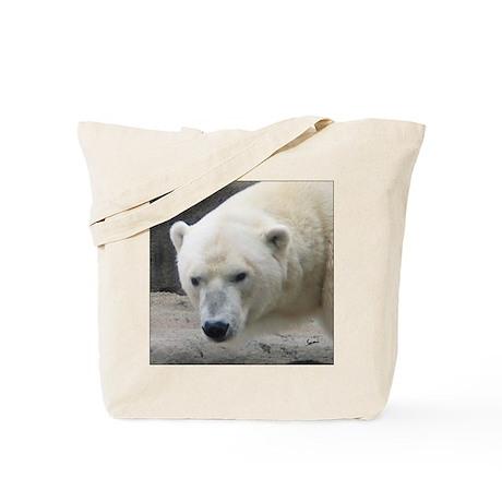 polar bear head tote bag by samisart