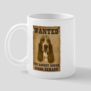 """""""Wanted"""" Basset Hound Mug"""