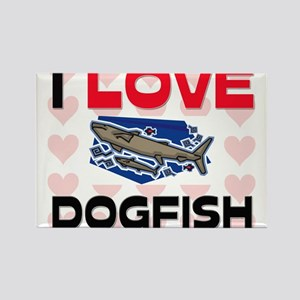 I Love Dogfish Rectangle Magnet