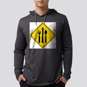 Food Crossing Sign Mens Hooded Shirt