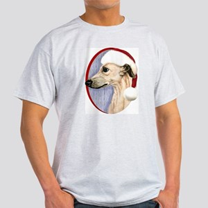 Fawn Whippet Santa Light T-Shirt