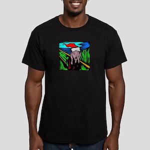 the-scream Men's Fitted T-Shirt (dark)