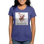 Merry Christmas To All Womens Tri-blend T-Shirt