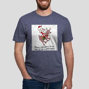 Merry Christmas To All Mens Tri-blend T-Shirt