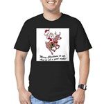 Merry Christmas To All Men's Fitted T-Shirt (dark)
