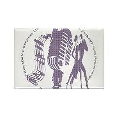 KeysDAN Logo (Purple Clouds) Rectangle Magnet (10
