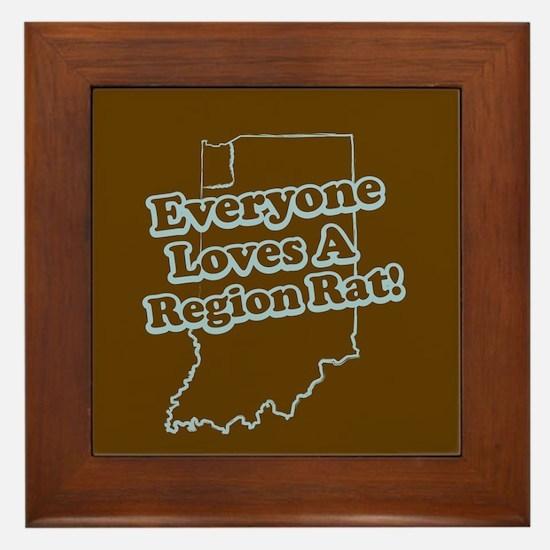 Everyone Loves A Region Rat Framed Tile
