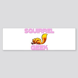 Squirrel Geek Bumper Sticker