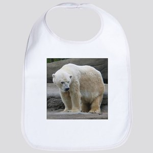 Polar Bear Looking Down Bib