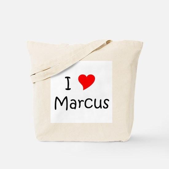 Cute I love marcus Tote Bag