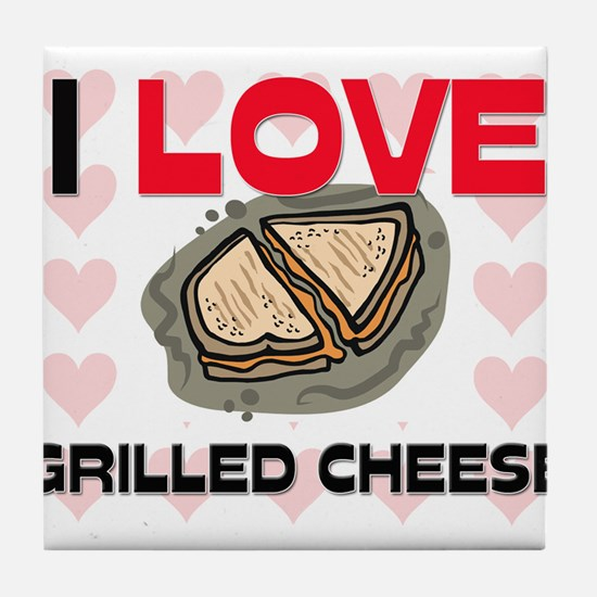 I Love Grilled Cheese Tile Coaster