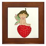 Strawberry Fairy : Framed Tile