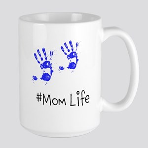 fingerpaint hands #momlife mom of boys Mugs