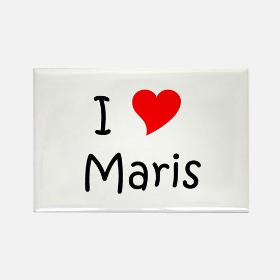 Funny I love mari Rectangle Magnet