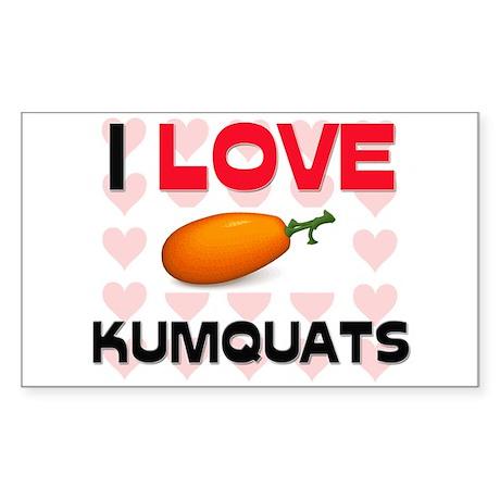 I Love Kumquats Rectangle Sticker
