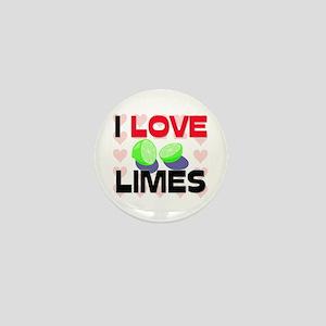 I Love Limes Mini Button