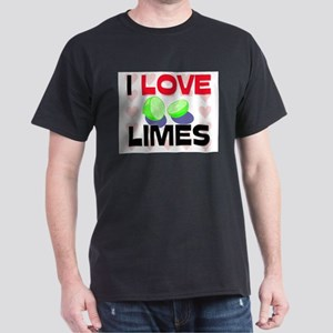 I Love Limes Dark T-Shirt