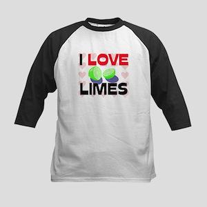 I Love Limes Kids Baseball Jersey