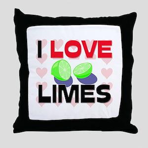 I Love Limes Throw Pillow