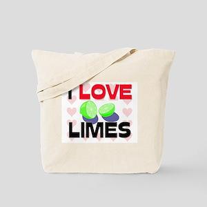 I Love Limes Tote Bag