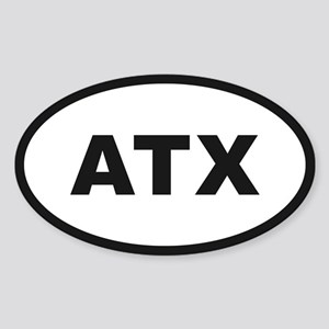 Austin Texas Oval Sticker