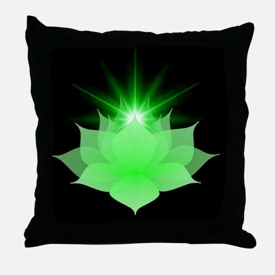 Unique Anahata Throw Pillow