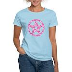 Pink Camo Pentagram Women's Light T-Shirt