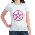 Pink Camo Pentagram Jr. Ringer T-Shirt