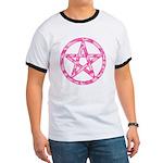 Pink Camo Pentagram Ringer T