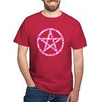 Pink Camo Pentagram Dark T-Shirt
