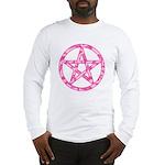Pink Camo Pentagram Long Sleeve T-Shirt