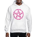 Pink Camo Pentagram Hooded Sweatshirt