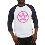 Pink Camo Pentagram Baseball Jersey