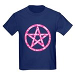 Pink Camo Pentagram Kids Dark T-Shirt