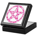 Pink Camo Pentagram Keepsake Box
