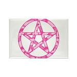 Pink Camo Pentagram Rectangle Magnet (10 pack)