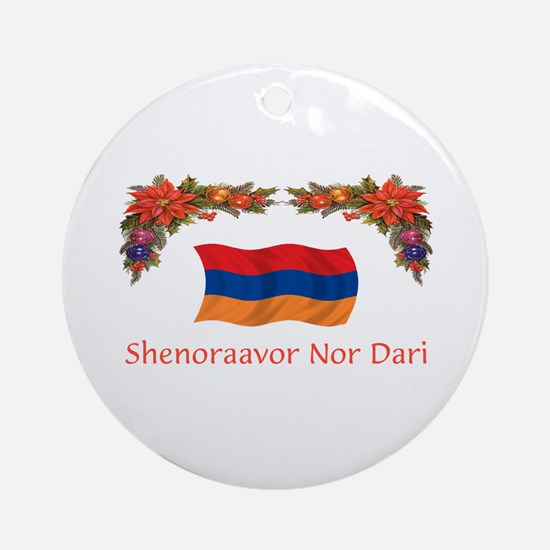 Armenia Shenoraavor 2 Ornament (Round)